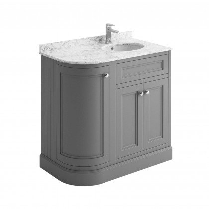 Cromwell 900mm unit, marble top & basin