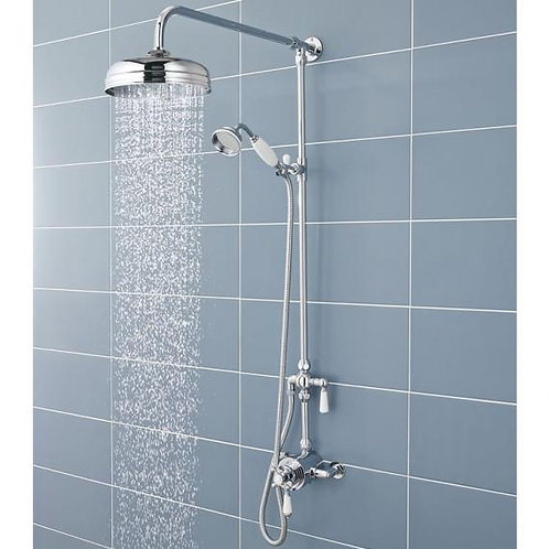 Hudson Reed Thermostatic Traditional Twin Head shower