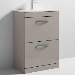 Stone Grey Athena 600mm 2 Drawer Unit and Basin