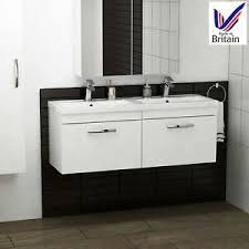 Athena 1200 White Gloss Drawer Wall Hung Unit & Basin