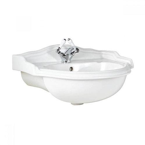 Victoria Traditional semi recessed basin