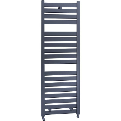 Connect 500mm Wide Towel Radiator in Matt Anthracite, Grey and Black