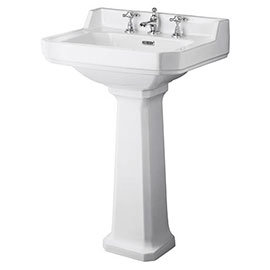 Richmond Comfort Height 600mm Basin and Pedestal 1,2 OR 3 Tap hole