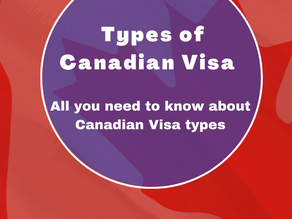 Types of Canadian Visa   All you need to know about Canadian Visa types