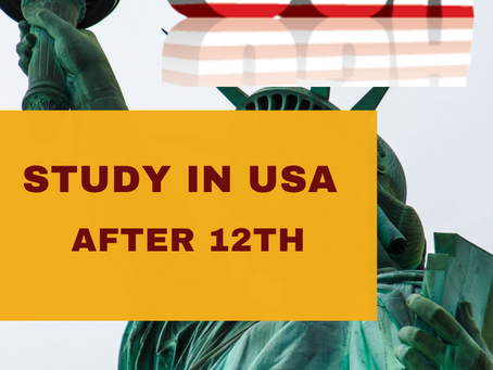 Study in USA  |  After 12th