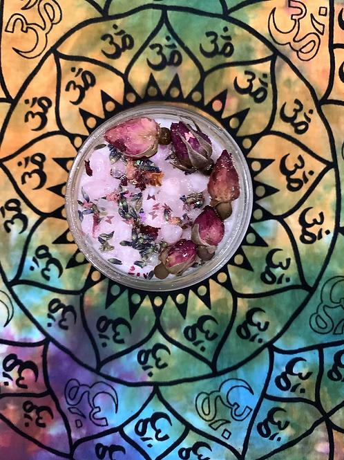 Rose Quartz Healing Candle
