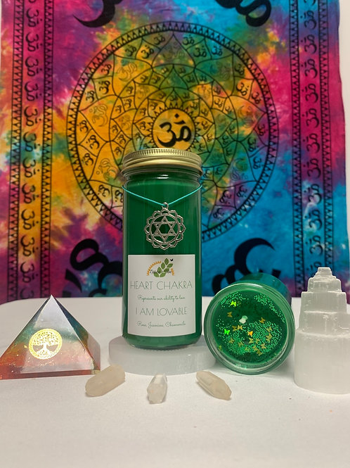 The Heart Chakra Candle