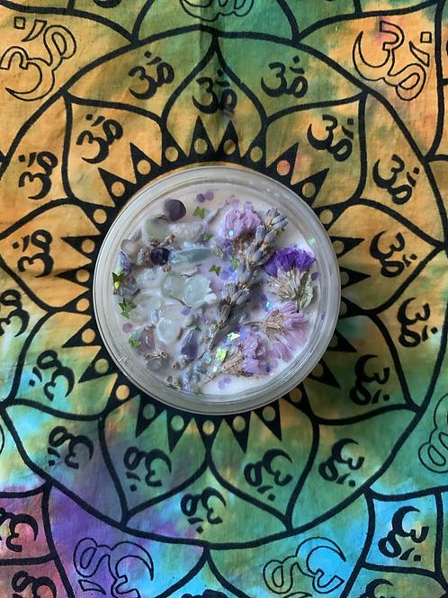Fluorite Healing Candle