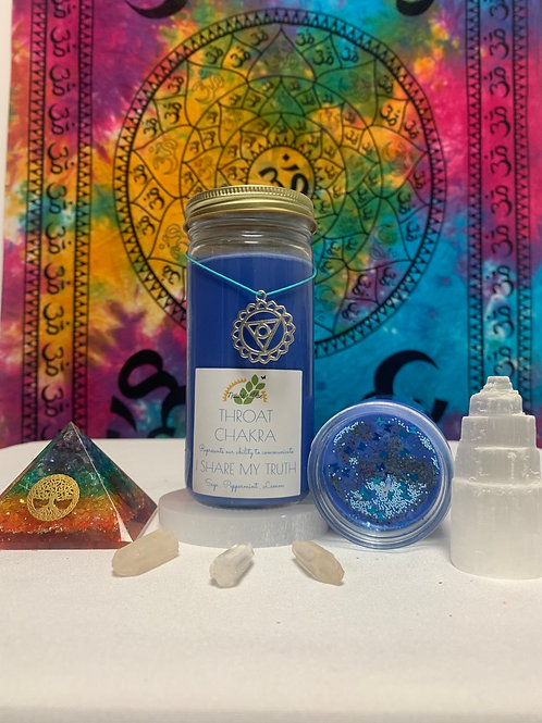 The Throat Chakra Candle