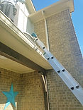 Protect rain gutters from ladders.