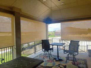 Cedar Park TX outdoor patio blinds.