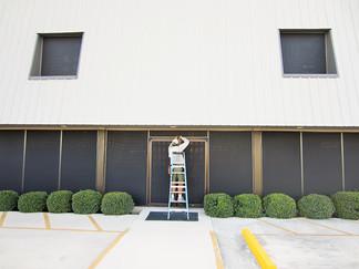 Commercial solar screens Austin TX.