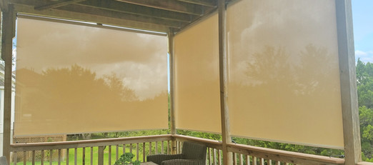 My kind of outdoor blinds for porches do not keep bugs out.