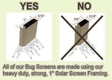 Austin Texas Bug Screens 1 inch Frame.