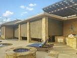 Brown solar shade color Pflugerville Texas patio shade screen.