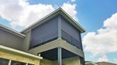 Black solar shade color porch blinds Cedar Park Texas.