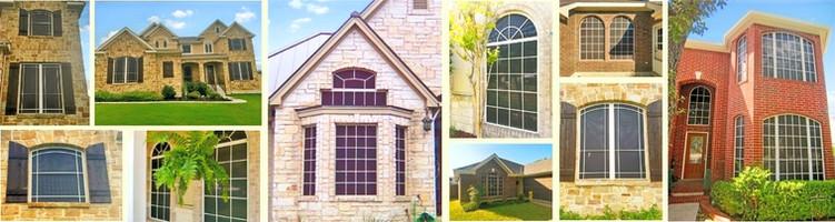 Austin TX grid pattern residential solar screens.