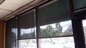 Austin Texas storefront window shades.