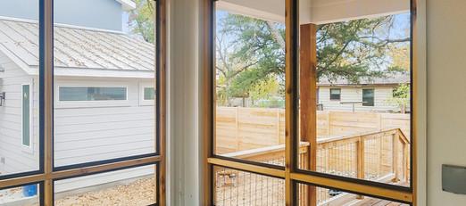 Austin TX patio enclosure wood framed.
