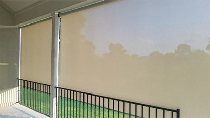 Cedar Park Texas exterior blinds.
