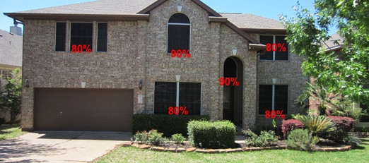 Combination of 80% and 90% for front of home.