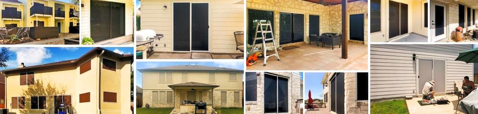 Austin Texas solar screens for doors.