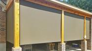 Brown solar shade color Pflugerville Texas sun shades for decks.