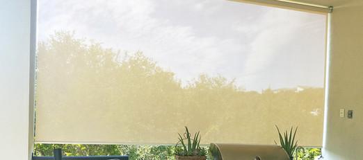 Beige / White 97% porch sun shades.