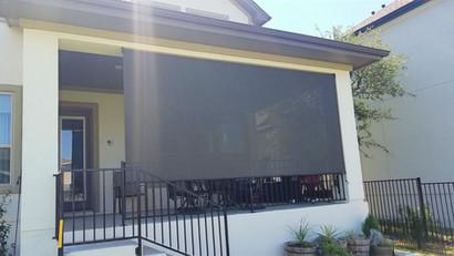 Outdoor roll up blinds  Pflugerville TX.