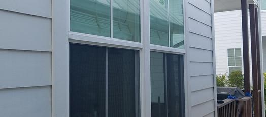 New construction vinyl window screens.