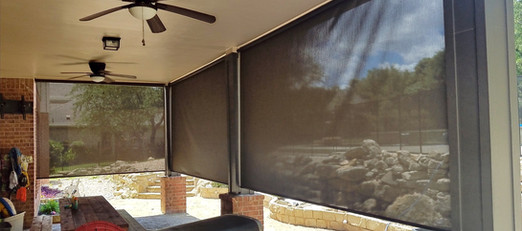 The best way to shade your patio are patio shades.