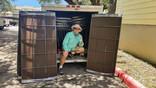 2020 Grid patterned Mocha 90% Apartment solar screen install.