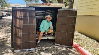 Me doing an apartment multi-family solar screen installation.