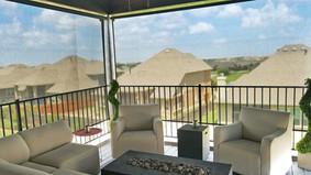 Cedar Park TX sun shades for the patio Black solar fabric.