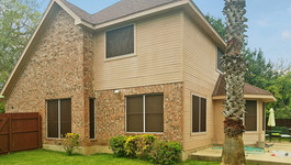 All windows of Leander TX house is now shaded with my Mocha 80% White solar screens.