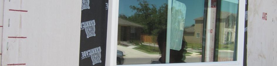 Texan Vinyl Windows. Before hardi exterior siding.