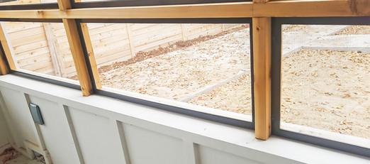 Bug screens for an enclosed Austin TX patio.