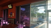 Commercial sun shades for windows, Round Rock TX restaurant.
