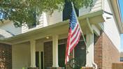 Cedar Park TX home with my Black fabric 80% White frame solar sun screens for windows.