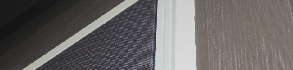 Builders First Source vinyl window shade by solar screen.
