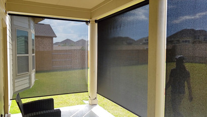 Wondering how well my exterior roller shades work?