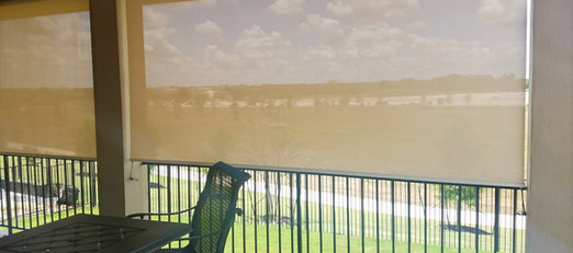 Cedar Park TX Roller Shades for outdoor patio.