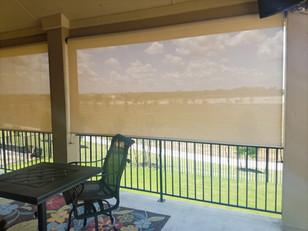 Round Rock TX outdoor roller shades.