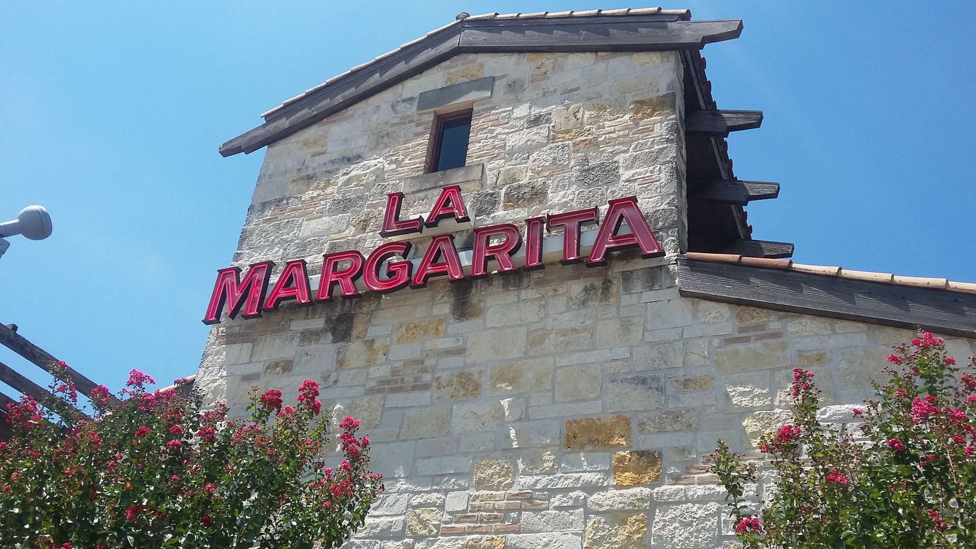 Round Rock La Margarita restaurant shaded with my solar screens.