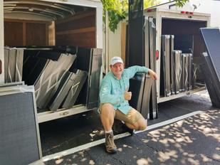 Austin Texas Apartment solar screens for windows.