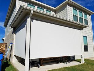 Outdoor patio screens Austin TX.