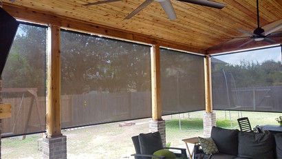 I install my outdoor roll up blinds all over Austin.