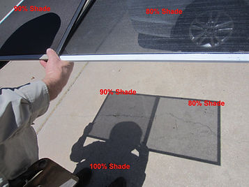 Solar screen fabric 80% vs 90%.