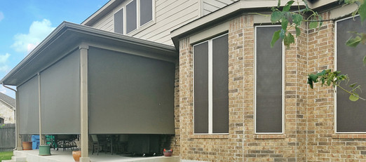 Solar shades for Windows and patios.