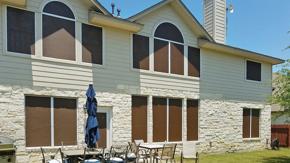 I used my 90% mocha fabric for this South Austin installation.